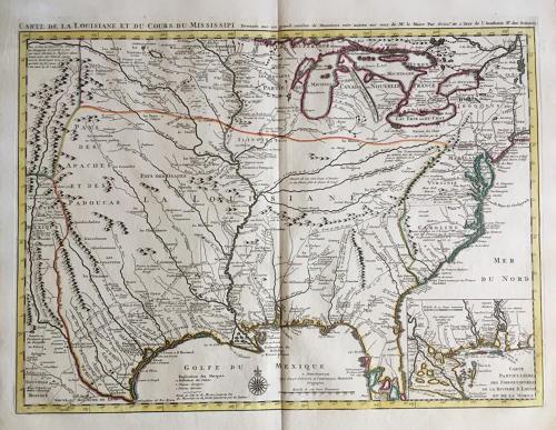 Covens & Mortier - Carte De La Louisiane et du Cours du Mississipi